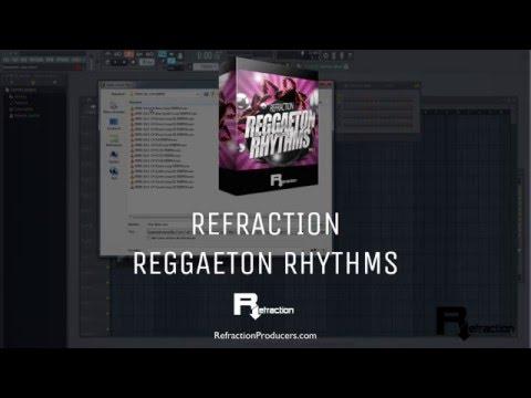 Reggaeton loops  & samples - Refraction Reggaeton Rhythms samplepack 95bpm
