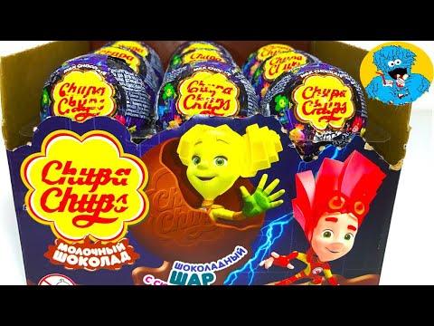 Видео: Открываем Сюрпризы Чупа Чупс Фиксики Unboxing Surprise Eggs New Chupa Chups Fixiki 2017