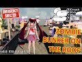 [School Girls Simulator] MADE A ZOMBIE BUNKER ON THE ROOF!!