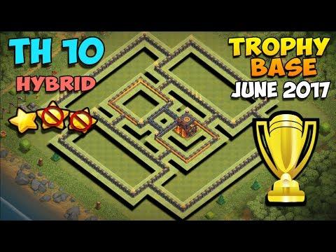 Clash Of Clans | TH10 Farming Base 2017 | BEST 10 Hybrid Base | Trophy Pushing Base | Tested!