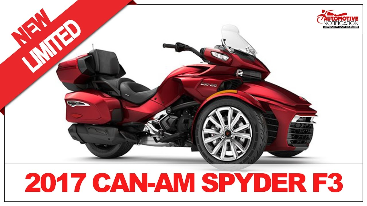 2017 can am spyder f3 limited price specification review