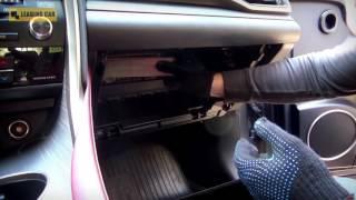 Lexus RX 2016 Замена салонного фильтра смотреть