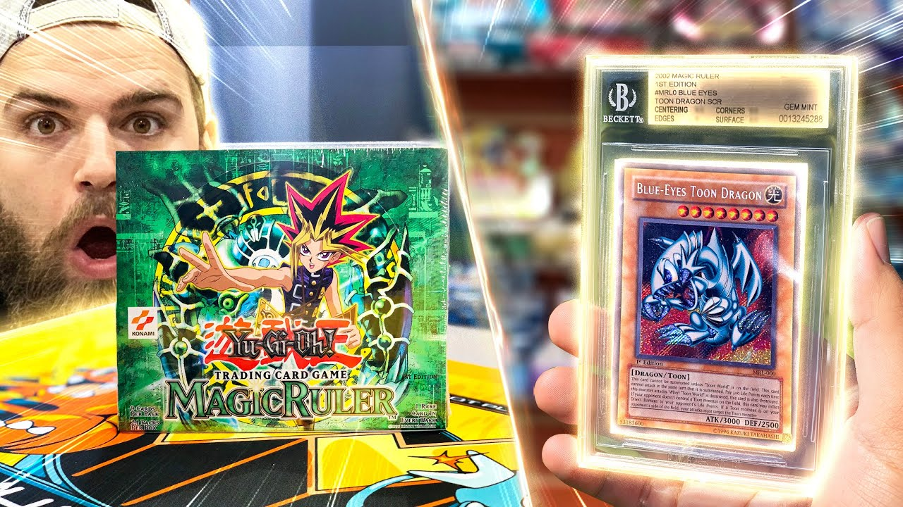 $15,000 Graded Yu-Gi-Oh! Cards Returns | Opening a VINTAGE Magic Ruler 1st Edition Box