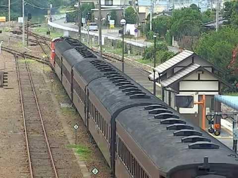 八高線 DD51旧客試運転 寄居駅 出発