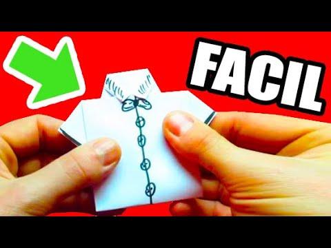 Como hacer una camisa de papel figuras de papel muy fcil youtube thecheapjerseys Gallery