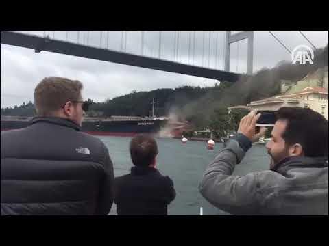 Turkey: Ship hits shore of Bosphorus Strait