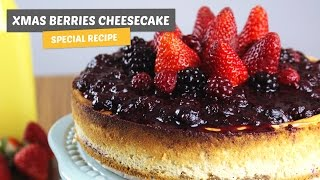 Christmas Berries Cheesecake | Special recipe