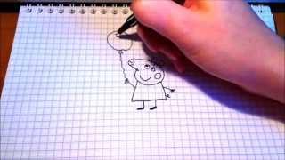 Простые рисунки #86 Свинка Пеппа