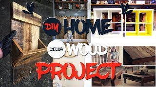 10 DIY Home Decor Wood Projects