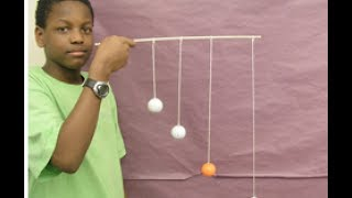 Resonant pendulum demonstration ///Homemade Science with Bruce Yeany