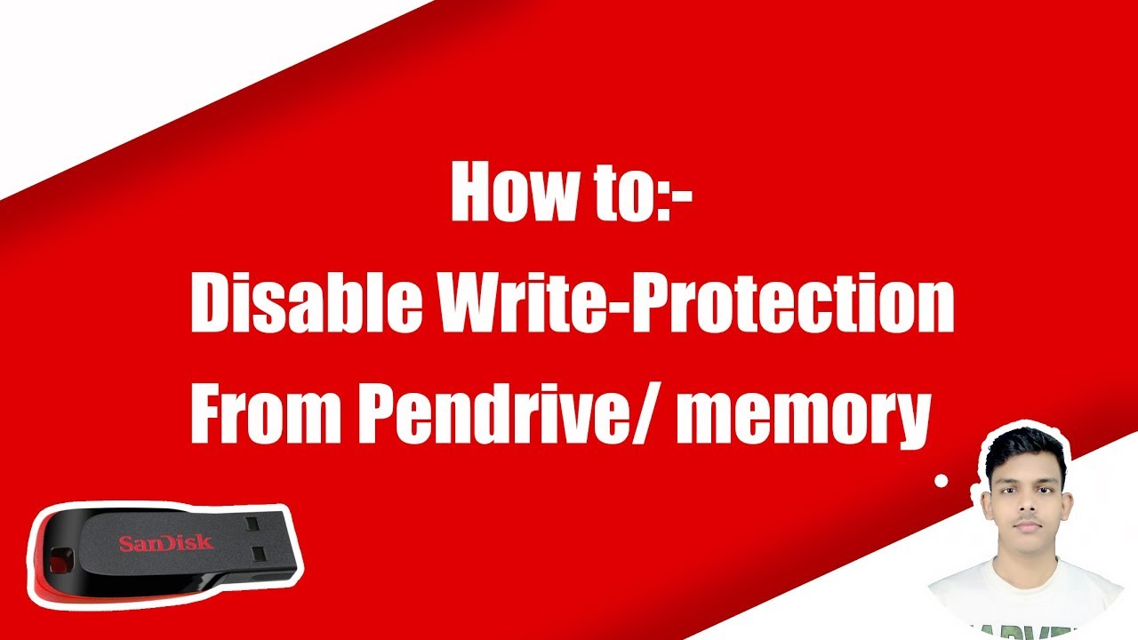 how to disable write protection in pendrive