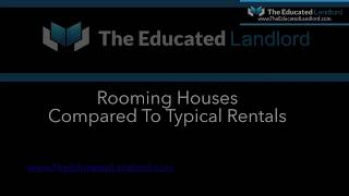 Rooming House vs Single Family Rentals Comparison