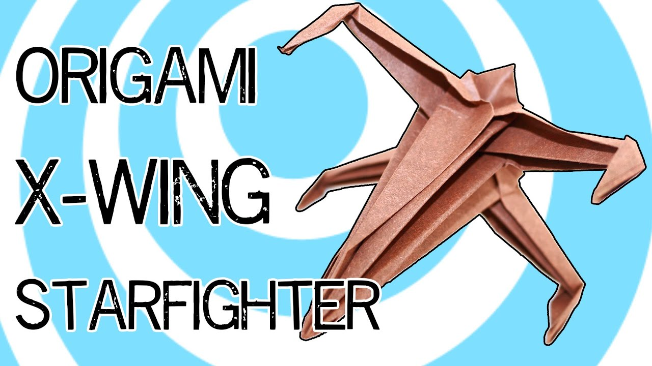 How to Fold an Origami Star Wars X-wing Starfighter - YouTube | 720x1280