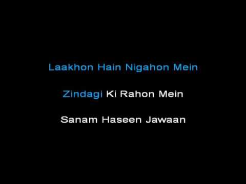 lakho hai nigahon mein karaoke