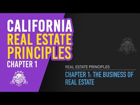 california-real-estate-principles-chapter-1