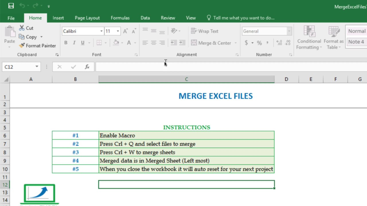 How To Merge Multiple Excel Files Into One In Seconds Youtube