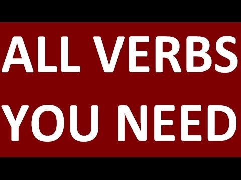 ALL ENGLISH VERBS  YOU NEED TO KNOW. MOST COMMON REGULAR AND IRREGULAR VERBS IN ENGLISH