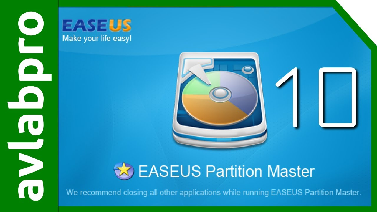 Easeus partition master free edition.