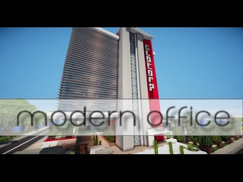 minecraft modern office bureau moderne visite download youtube. Black Bedroom Furniture Sets. Home Design Ideas