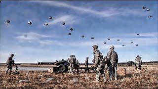 Airborne Artillery Drop & Live Fire 105mm Howitzers