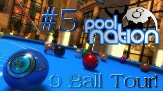 Pool Nation - Gameplay Walkthrough: #5 - 9 Ball Tour! - Exchange Square Cup (1080p HD)