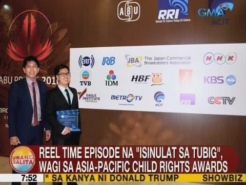 UB: Reel Time episode na 'Isinulat sa Tubig', wagi sa Asia-Pacific Child Rights Awards
