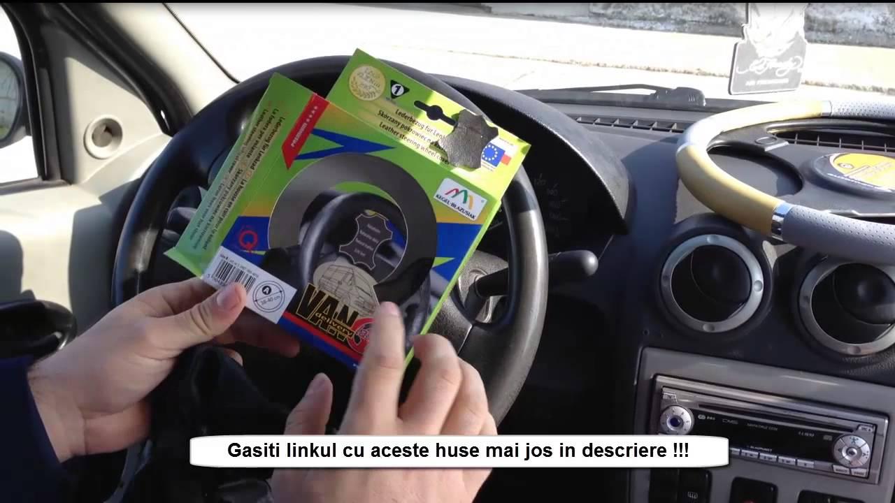 cel mai bine vândut cel mai popular pantofi de temperament Husa volan Logan piele 38-41cm , huse volan Dacia Logan - YouTube