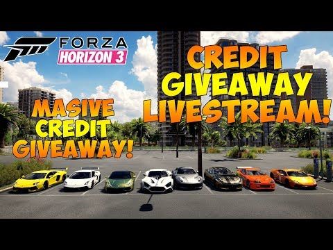 Forza Horizon 3 - CREDIT GIVEAWAY LIVESTREAM! MASSIVE CREDIT GIVEAWAY - HOT WHEELS!