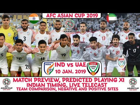 AFC Asian Cup 2019: India vs UAE (Group Stage) | Preview | Team Comparison | Live Telecast |