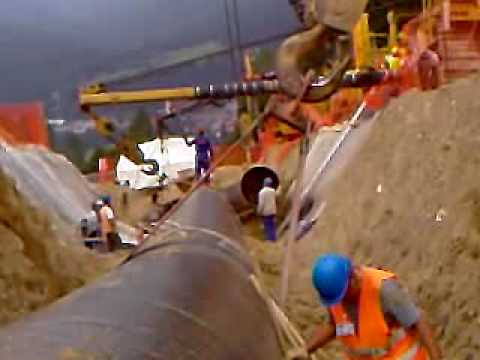 Final Tie-In in Tarvisio-Malborghetto Gas Pipeline