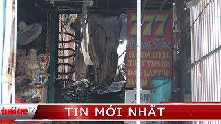 Tiệm sửa xe ở Vĩnh Long cháy rụi ngày mùng 3 Tết