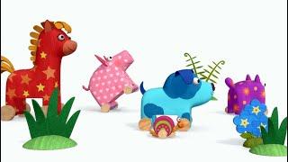 Теремок песенки для детей Деревяшки Улитка Про животных Мультики для детей и малышей