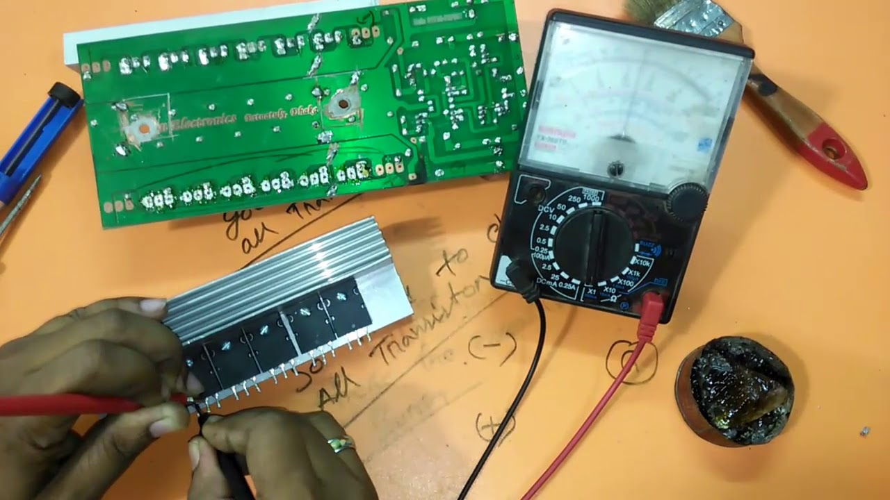 How To Repair Transistor Amplifier Circuit Using 2sc5200 And 2sa1943 Mini Amplifiers