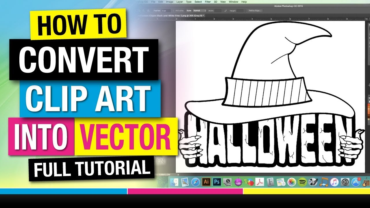 How to Convert Clip Art into Vector Art and Screen Print at Home ...