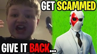 I Scammed A Fortnite Scammer For This Rare Skin... (freakout)