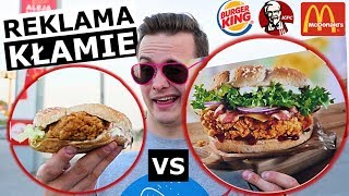 REKLAMA FAST FOOD vs. RZECZYWISTOŚĆ - MAK, KFC, BURGER!?