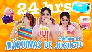 24 HORAS COMIENDO DE MÁQUINAS DE JUGUETES   MIS PASTELITOS