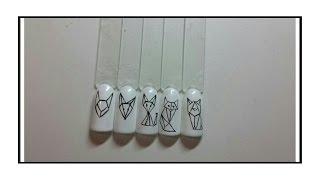 Геометрические животные Дизайн ногтей гель лаком