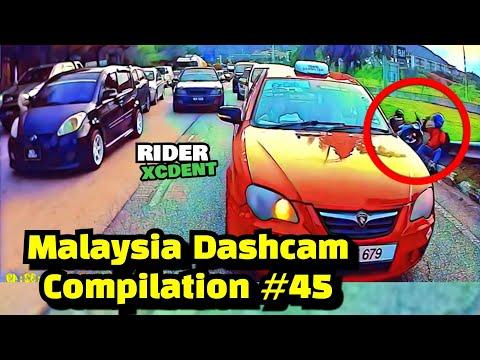Malaysia Dashcam Compilation #45 | Motosikal berlanggar antara satu sama lain