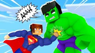 Minecraft : A BATALHA DE HERÓIS MAIS ÉPICA  !! - Minecraft Super Heróis #4