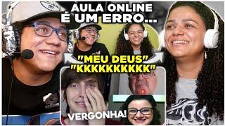 MINHA MÃE REAGE A aula online é um erro... | Felca