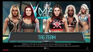 WWE2K19 Evolution Lita & Trish Stratus vs Mickie James & Alicia Fox (with Alexa Bliss)