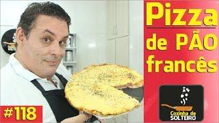 Como fazer Pizza de Pão Francês - COZINHA DE SOLTEIRO