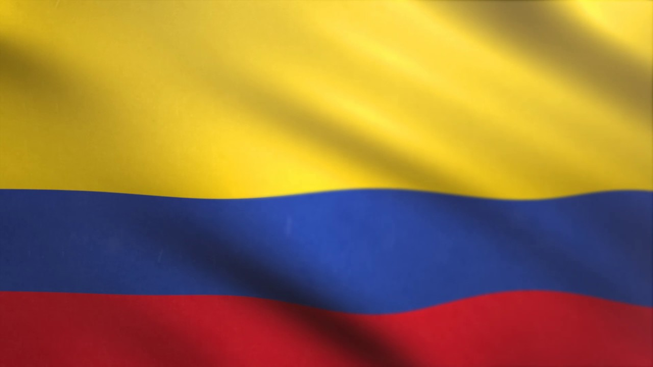 colombia flag waving animated using mir plug in after effects free