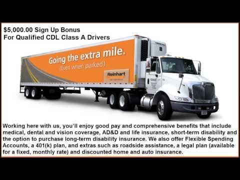 CDL Class A Truck Driver Jobs Louisville KY $5000 Bonus