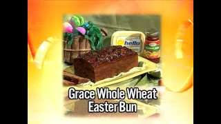 Grace Whole Wheat Easter Bun - Grace Foods Creative Cooking