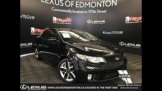 Black 2012 Kia Forte Koup SX Review Edmonton Alberta - Lexus of Edmonton