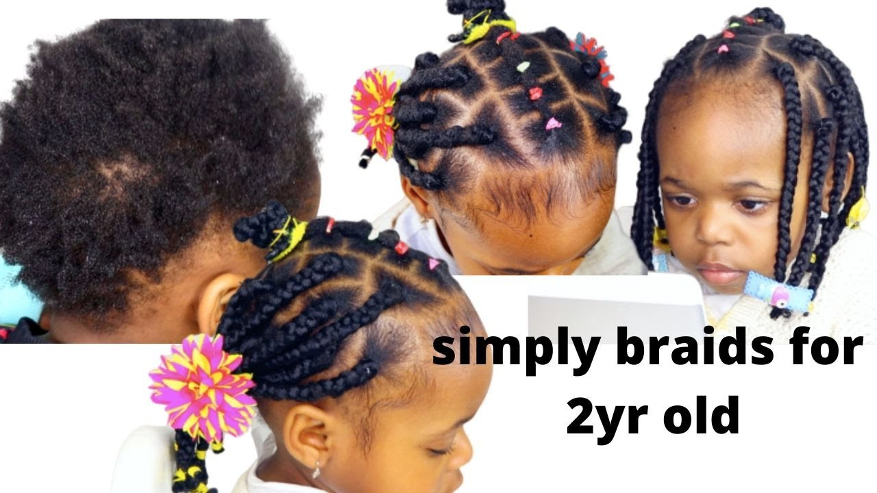 Pain Free Braids For Little Girls Hairstyle For Short Hair 2yr Old Toddler Hair Style On 4c Hair Youtube