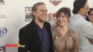 Sons of Anarchy Season Five Premiere Arrivals  Charlie Hunnam, Katey Sagal, Maggie Siff