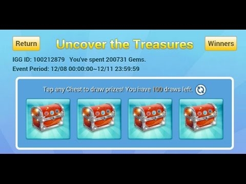 100 Chances At Uncover The Treasure Android Castle Clash